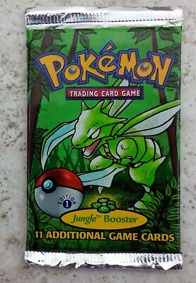 Pokemon 1 Unsearched Factory Sealed Jungle 1st edition Booster Pack Scyther Art