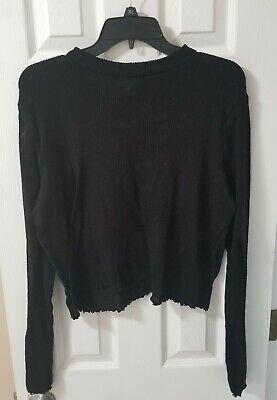 Womens SO Black Sweater Crop Top Size XXL Juniors