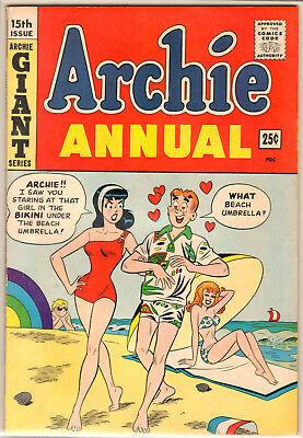 Archie Annual 15 VF+ 8.5 Dan DeCarlo Cover & Art Swimsuit Cover 1963 High Grade!