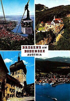 Bregenz am Bodensee , Ansichtskarte, gelaufen