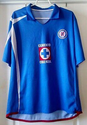 c99cd78e3 Cruz Azul Home Cemento Telcel Soccer Deportivo Mexico La Maquina Retro  Jersey