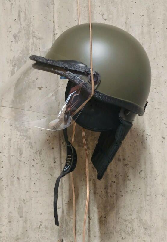 Police Premiere Crown Riot Helmet C4-906 Universal Size with Neck Gaurd