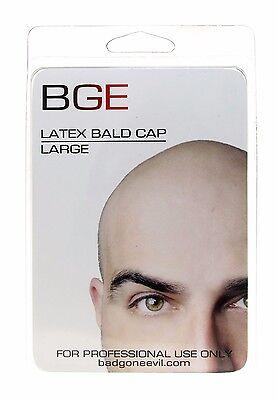 BGE Large Latex Bald Cap Beige Adult Handmade Unisex Hand Made in USA