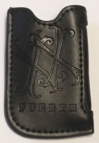 Black Leather Opus X Fuente Lighter Pouch For S.T. Dupont Maxijet Lighter, NIB