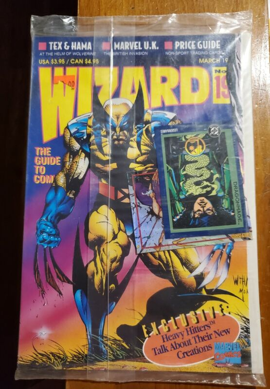 Wizard Comic Magazine #19 IN ORIGINAL PACKAGING with card (February 1993)