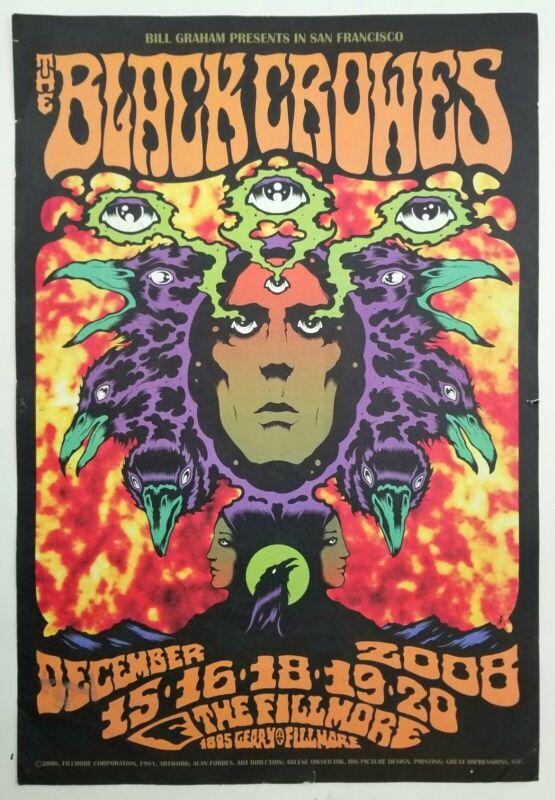 The Black Crowes original SF Fillmore poster. 2008 tour