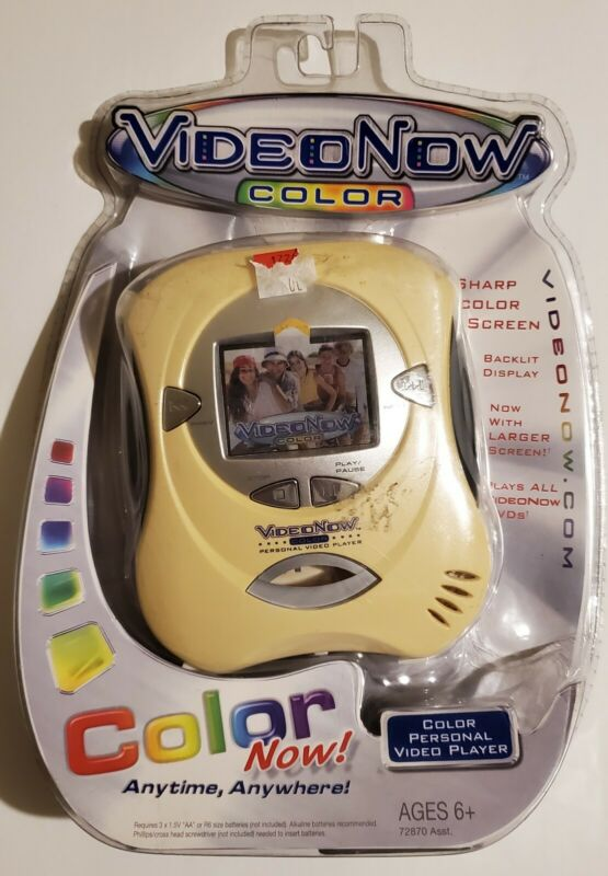 Video Now Color Personal Video Player ( New Sealed )