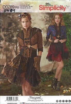 Simplicity 8409 COSTUME Pattern ARKIVESTRY STEAMPUNK COSPLAY ~ Miss 14-22