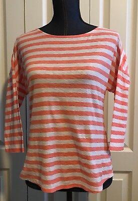 Tommy Bahama Womens Size SP Orange And White Striped Long Sleeve Shirt (Orange And White Striped Long Sleeve Shirt)