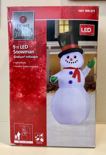 RARE - Gemmy 9ft Snowman Christmas Inflatable