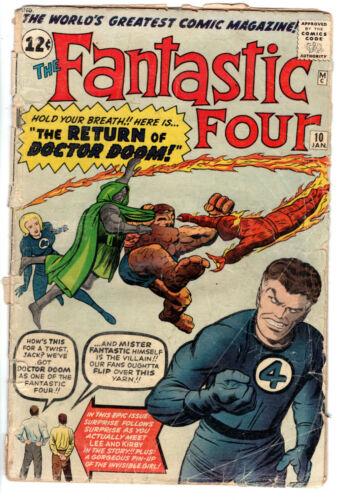 FANTASTIC FOUR #10 (1961) - Grade 2.0 - Stan Lee! Jack Kirby!