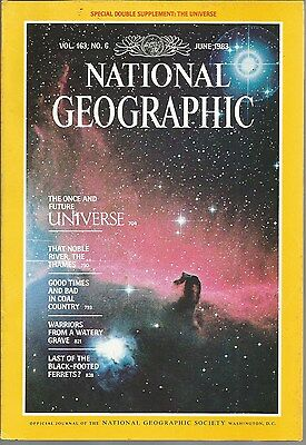 National Geographic June 1983 River Thames Coal Country Bronze Statues Ferrets