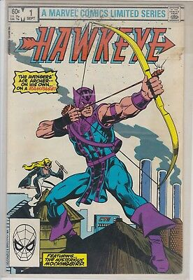HAWKEYE THE AVENGERS ACE ARCHER ON HIS OWN RAMPAGE SEPT #1 MARVEL COMIC BOOK (Avengers Archer)