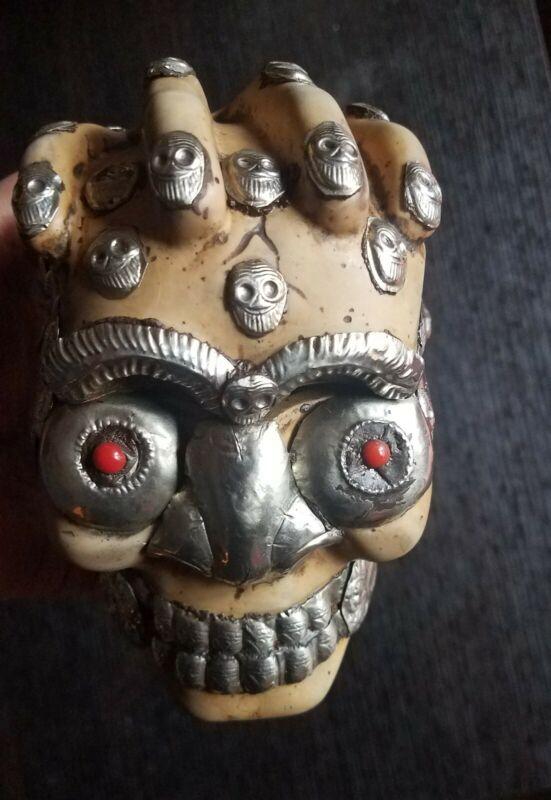 resin monkey  skull.
