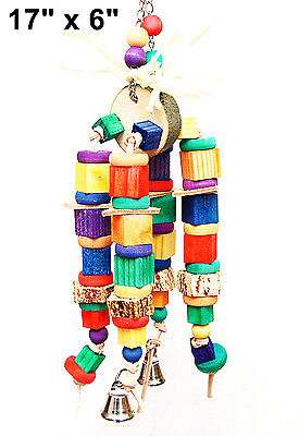 Birds chewy stack pet bird parrot cage toy for mini macaw small cockatoo senegal