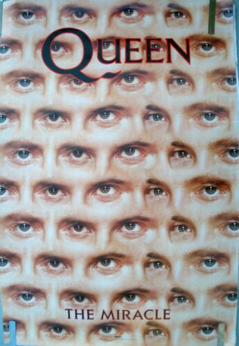 RARE QUEEN THE MIRACLE 1989 VINTAGE ORIGINAL MUSIC RECORD STORE PROMO POSTER