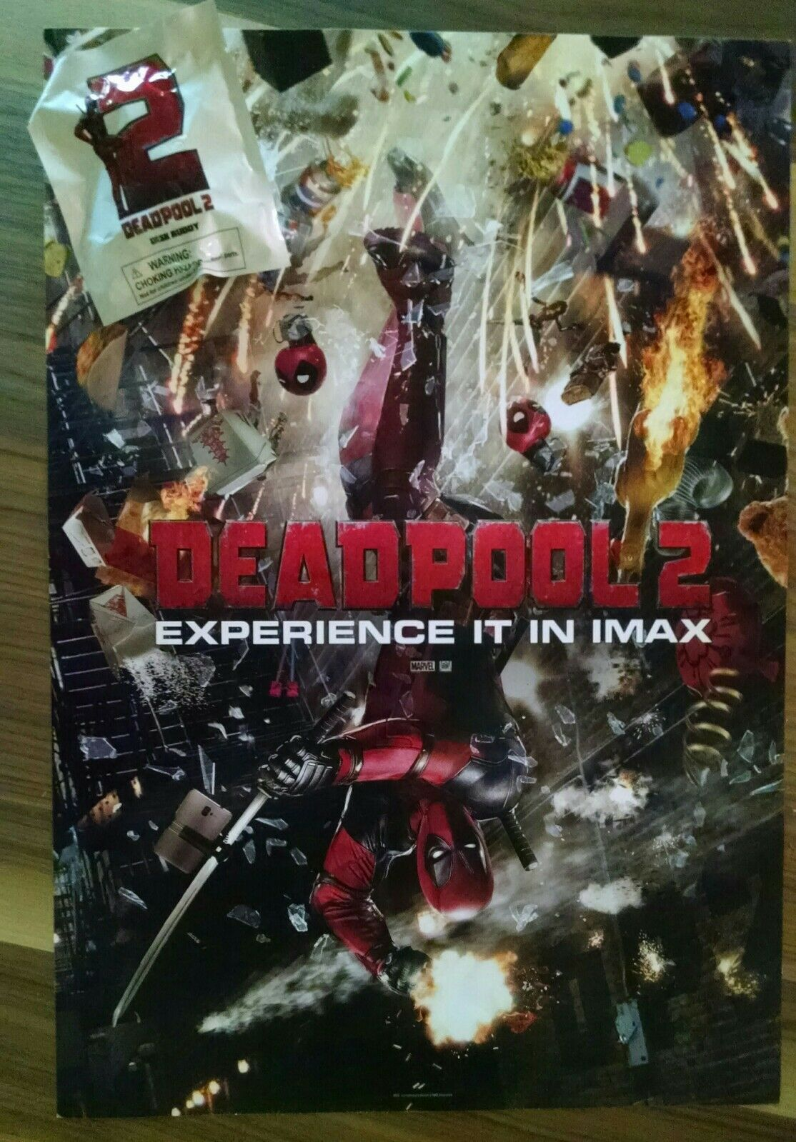 DEADPOOL 2 - DESK BUDDY Official Movie Poster 13 X 19 PREMIERE NIGHT IMAX  - $7.95