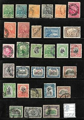 (57598) PERU CLASSIC STAMPS 1896/1907 NICE SELECTION USED UNUSED