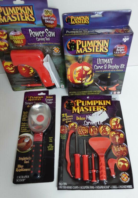 Pumpkin Masters Power Saw Carving Kit Scraper Scoop Halloween Jack O Lantern NEW