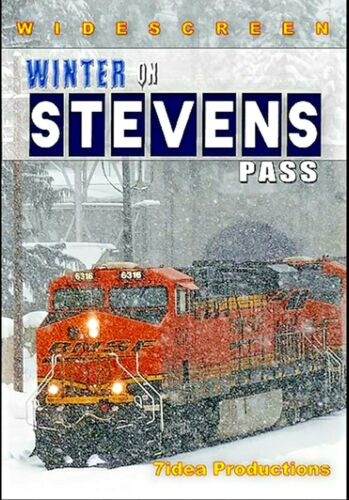 DVD WINTER ON STEVENS PASS 7IDEA PRODUCTIONS NEW VIDEO BNSF, GN, + MORE