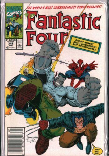 FANTASTIC FOUR #347 348 349 Wolverine Spider-man (1990) Marvel COMPLETE NM (9.4)