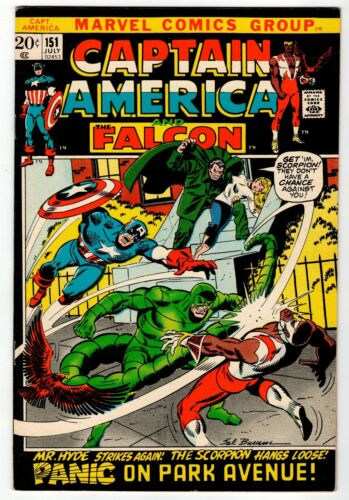 CAPTAIN AMERICA And Falcon #151 - VF/NM Marvel 1972 Vintage Comic