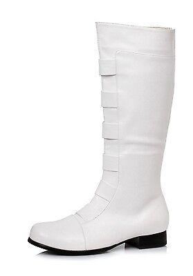 Halloween Costume Club (White StormTrooper First Order Cosplay Halloween Costume Knee High Boots)