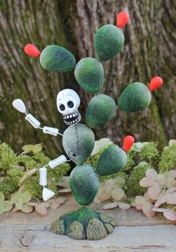 #2 Day of the Dead Cactus Man Skeleton Figure Mexican Folk Art Handmade Puebla