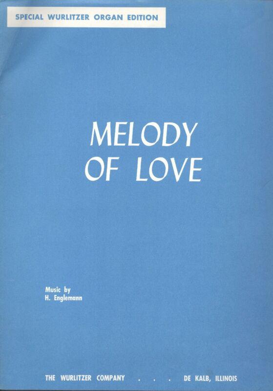 Special Wurlitzer Organ Read-A-Rhythm/Standard Edition: Melody of Love