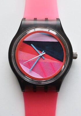 Hot Pink Fashion watch -  Retro 80s vintage style designer watch