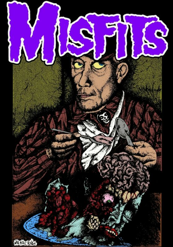 Misfits Braineaters 24x36 Fan Poster Danzig Samhain Punk Mad Marc Rude Ed Gein