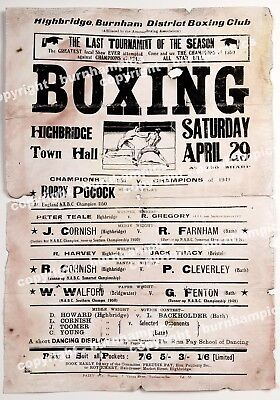 HIGHBRIDGE - SOMERSET - 1950's BOXING TOURNAMENT POSTER - A.B.A
