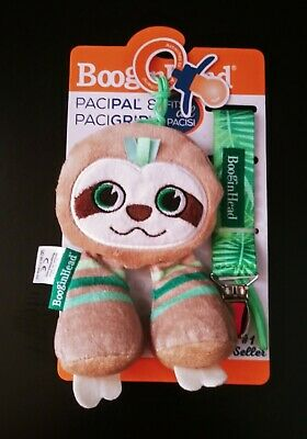 BooginHead PaciPal ~ PaciGrip Pacifier Clip ~ Sloth ~ 2 Piece Set ~ New