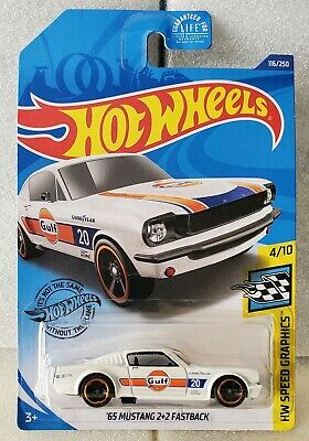 2020 Hot Wheels | '65 Mustang 2+2 Fastback *White* Dollar General Exclusive Gulf