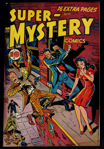 1947 Ace Magazine Super-Mystery Comics V 7 Vol 7 #1 FN