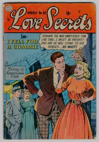 LOVE SECRETS #32  G/VG Anti-Communist cover/story!