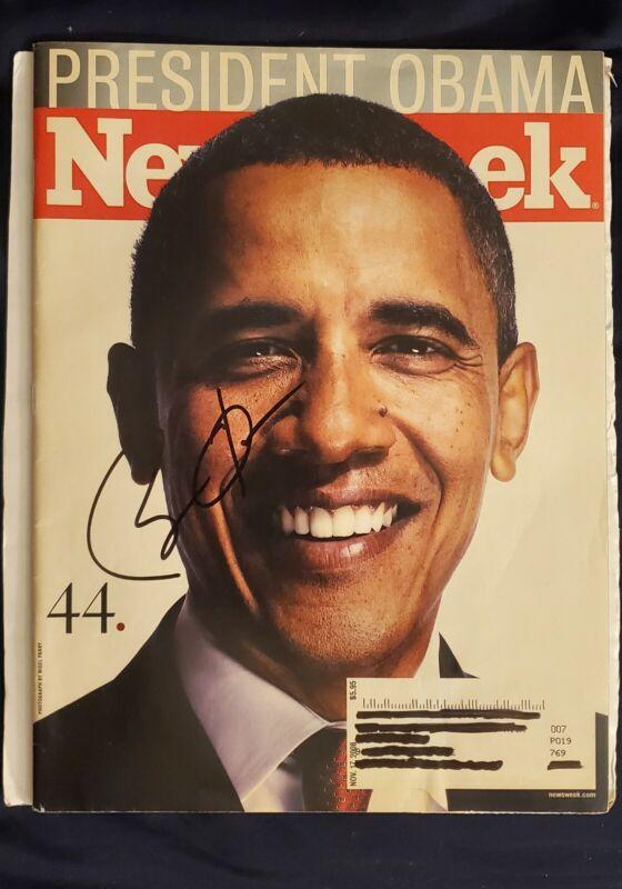 Barak Obama Autograph Magazine