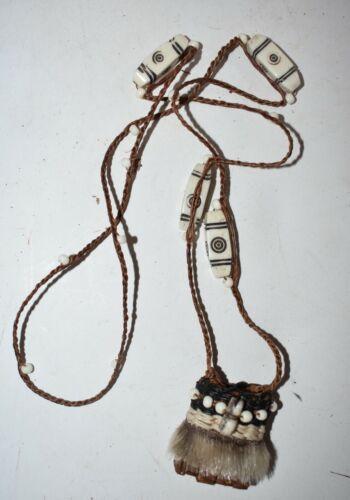 orig $499 YAKUT SIBERIAN HIDE AMULET BAG EARLY 1900S 14IN PROV