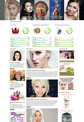 Skin Care Beauty Reviews Affiliate Website For Sale Modern Responsive Design