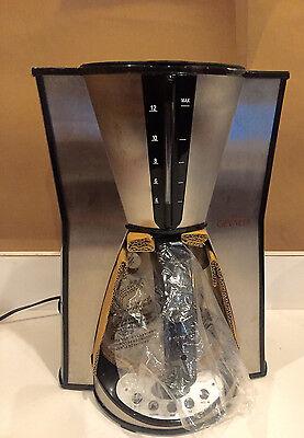 Gevalia GS-CM1003 A J11 BLACK 12 cup stainless steel coffeemaker  950 WATTS NIB