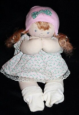"""Jan Shackelford YOUNG'UN Girl Doll 11"""" Newborn Preemie Baby Cloth Stamped Signed"""