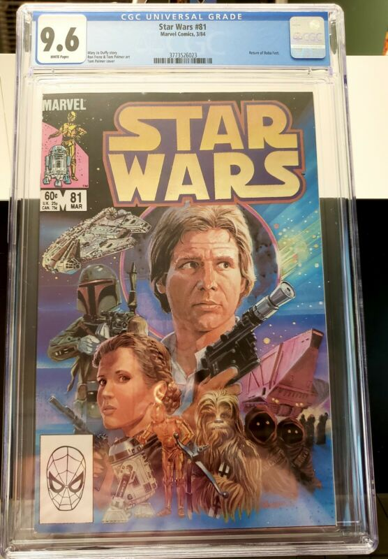 Star Wars #81 CGC 9.6 Return of Boba Fett White Pages Comic Book