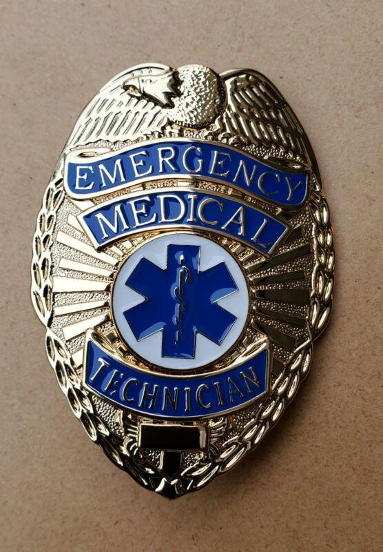 Emergency Medical Technician (EMT) Gold Shield Badge