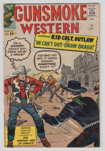 Gunsmoke Western #77, JACK KIRBY, KID COLT OUTLAW, Marvel 1963, G/VG r