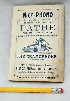 RARE 1911 VICTOR PATHE PHONOGRAPH GRAMOPHONE 78 RPM RECORD PLAYER EPHEMERA MAP