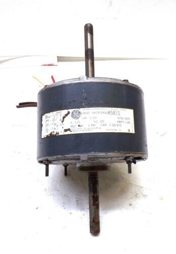 GE GENERAL ELECTRIC, MOTOR 5KCP39DG K581S, 1/10 HP, 1075 RPM, 115 VAC