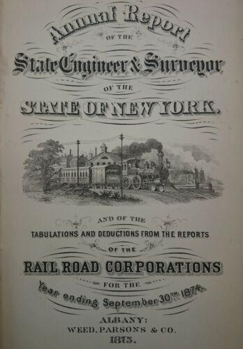 Street Horse & Steam Railroad Annual Engineer & Surveyor Report New York 1874