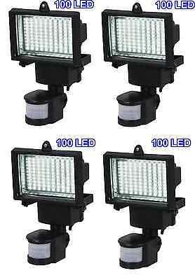 4 Pack 100 SMD LEDs Solar Powered Motion Sensor Security Light Flood 16 22 60 80