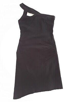 Icejeans Iceberg Black Denim One Shoulder Sequin Detail Dress Size M Stretchy