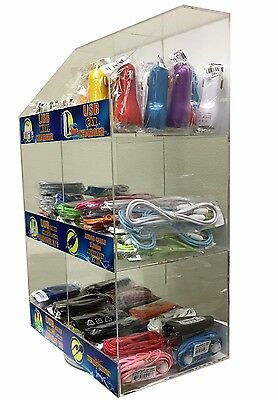 150 Pcs Cell Phone Accessories Display Rack Data Cables Car Chargers Home Aux